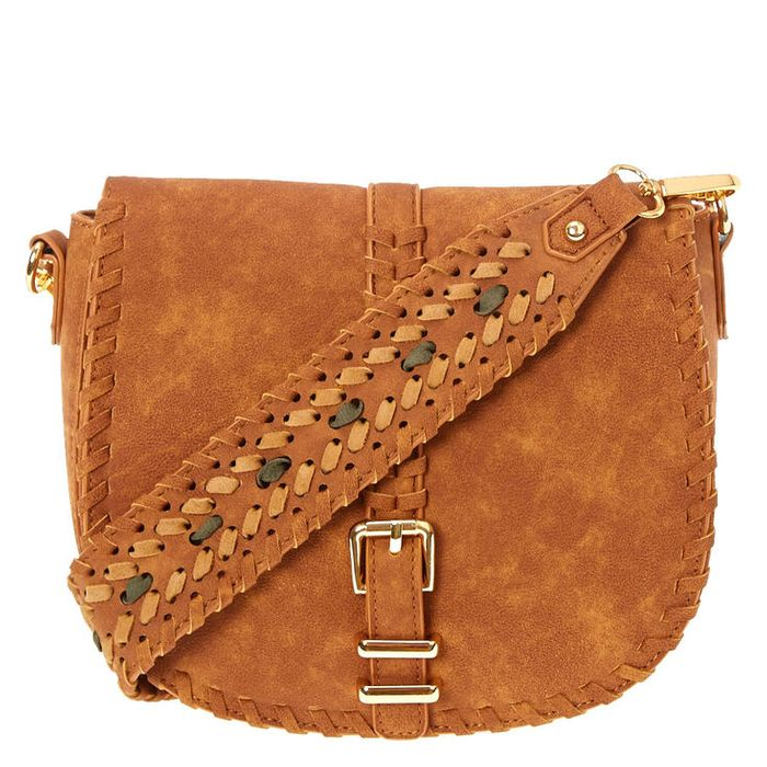 Tan Faux Suede Guitar Strap Bag