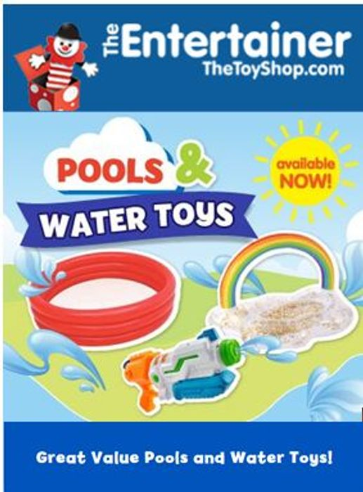 Paddling Pools & Water Toys at the Entertainer NOW!