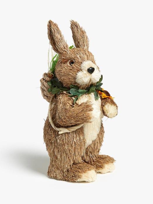 *HALF PRICE* John Lewis Straw Rabbit Backpack Decoration