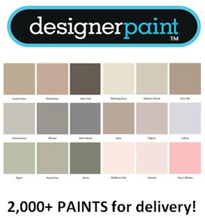 2,000+ Designer Paints from Every Designer Brand - Available for Delivery!