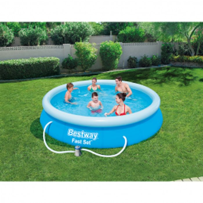 *Save £50* Bestway 12ft X 30inch Fast Set Swimming Pool with Filter