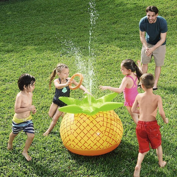 Best Price! Pineapple Water Sprinkler Sprayer - Incl. Inflatable Ring Toss Game