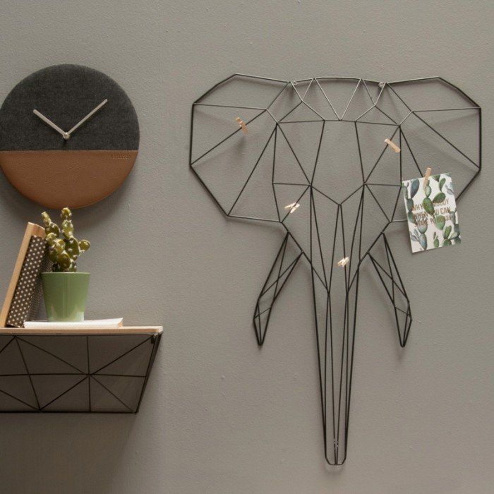 Linea Animal Memo Rack - Elephant