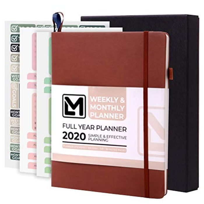 DATED WEEKLY PLANNER with Organiser & Calendar Stickers