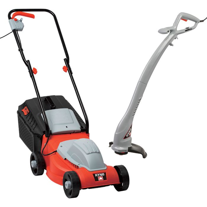 Ryno Electric Lawn Mower and Line Trimmer Set
