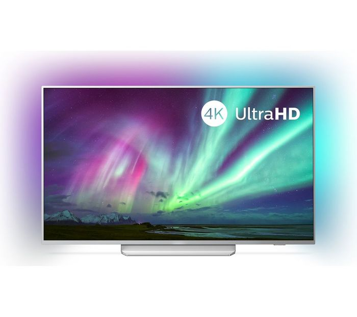 """*HALF PRICE* PHILIPS Ambilight 50"""" Smart 4K Ultra HD HDR LED TV with Google"""
