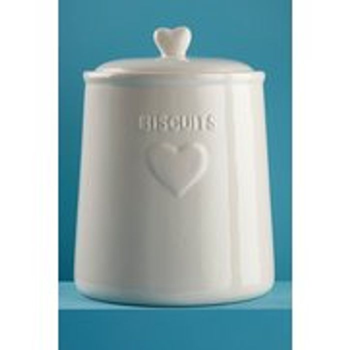 Save £5.00 on Ceramic Heart Biscuit Jar