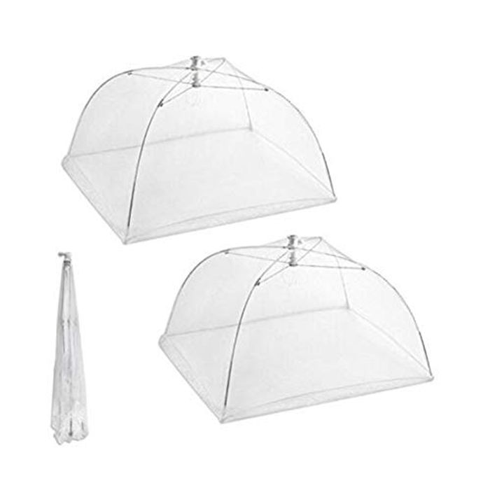 Set of 2 Large Pop-up Mesh Screen Food Cover -Colours May Vary - FREE Delivery