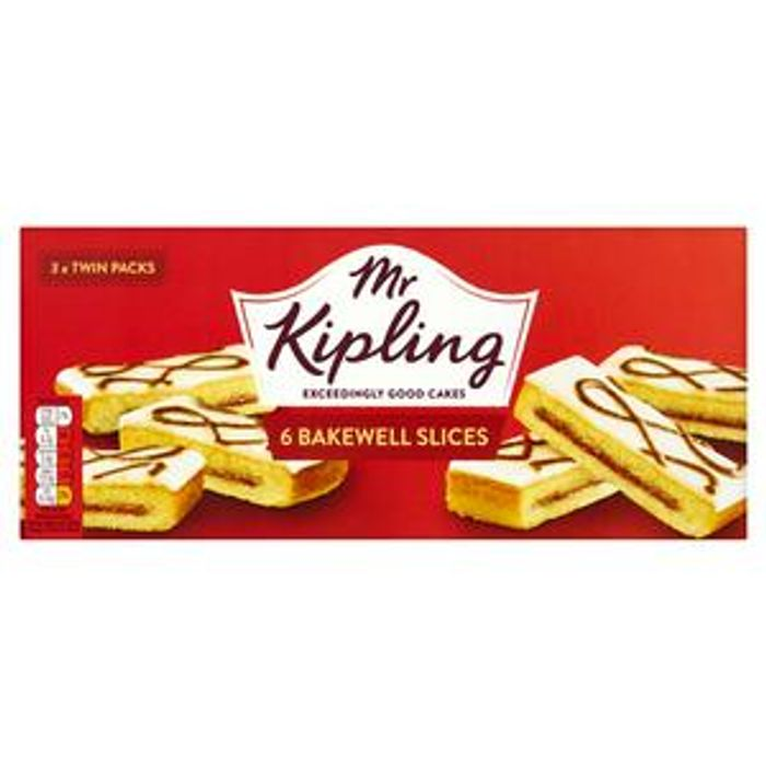 Mr Kipling Bakewell Cake Slices X6 at Sainsbury's - Only £1!
