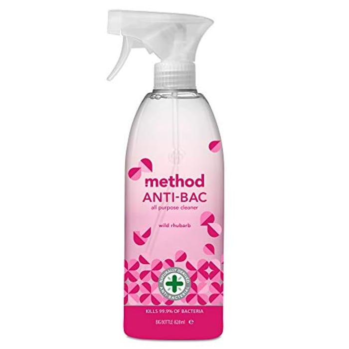Method All Purpose Cleaner - Anti Bac 8 X 828Ml Wild Rhubarb