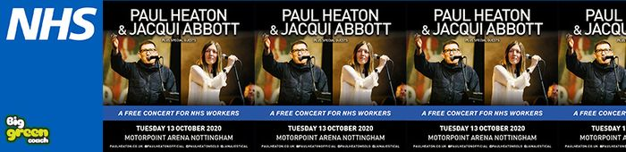 Free Coach Travel for NHS Workers (13th October - to Gig)