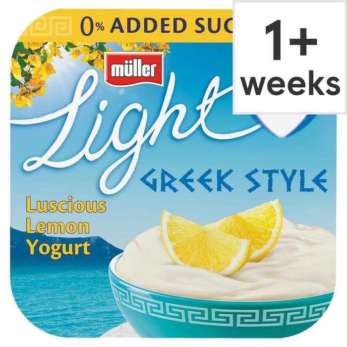 Muller Light Greek Luscious Lemon Yogurt 4X120g