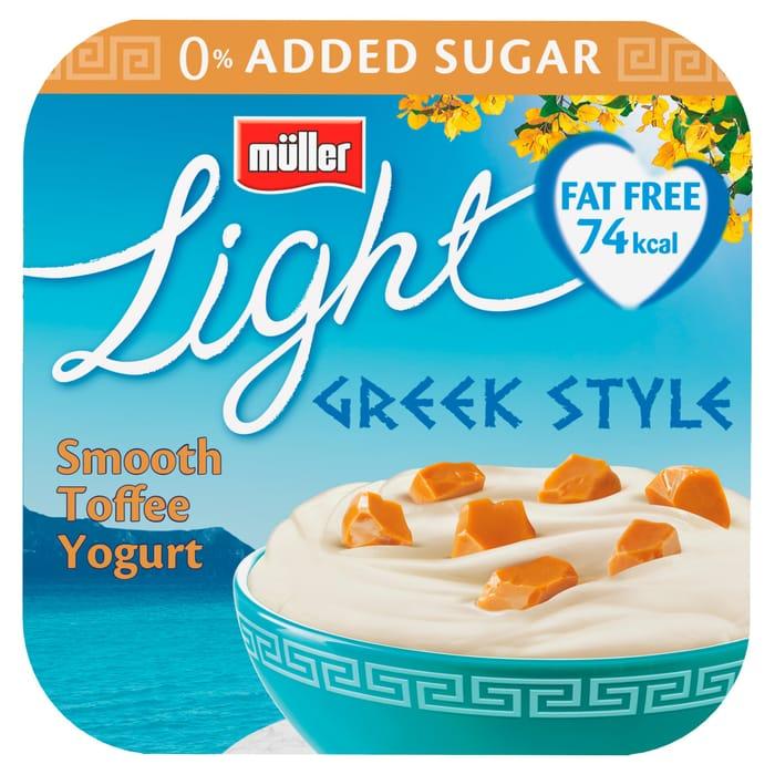 Muller Light Greek Toffee Yogurt 4X120g