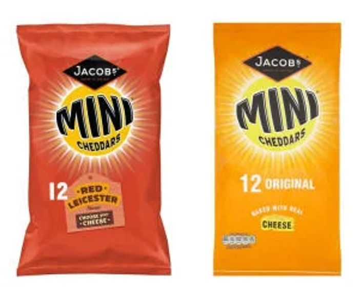 Jacobs Mini Cheddars Red Leicester / Original - 12 Pack