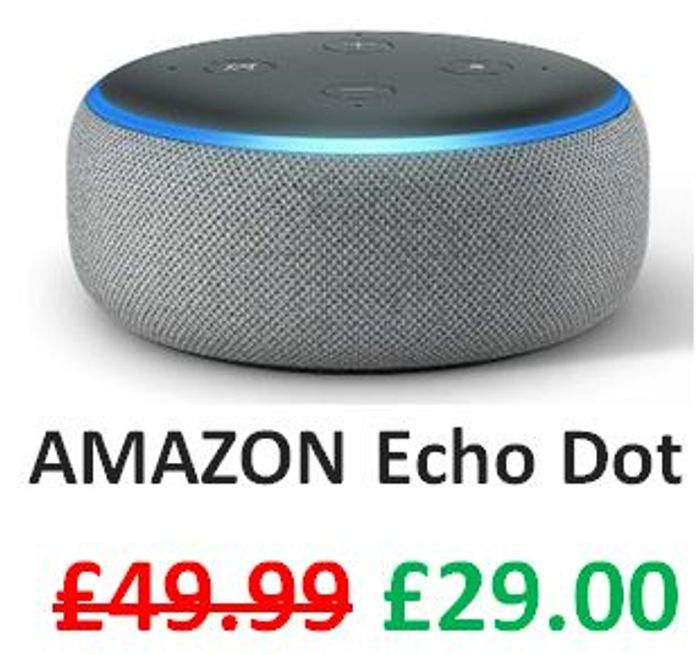 Echo Dot (3rd Gen) + FREE DELIVERY (Charcoal / Heather Grey / Sandstone)