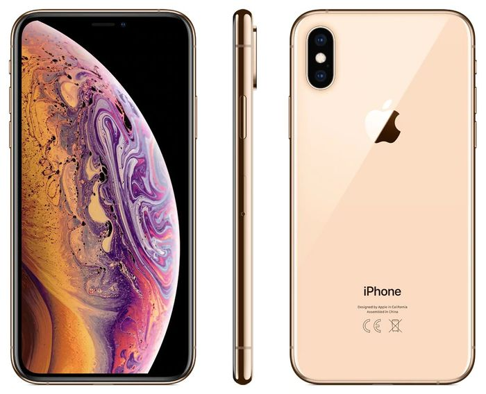 "Best Price! Apple iPhone XS, iOS, 5.8"", 4G LTE, SIM Free, 64GB, Gold"