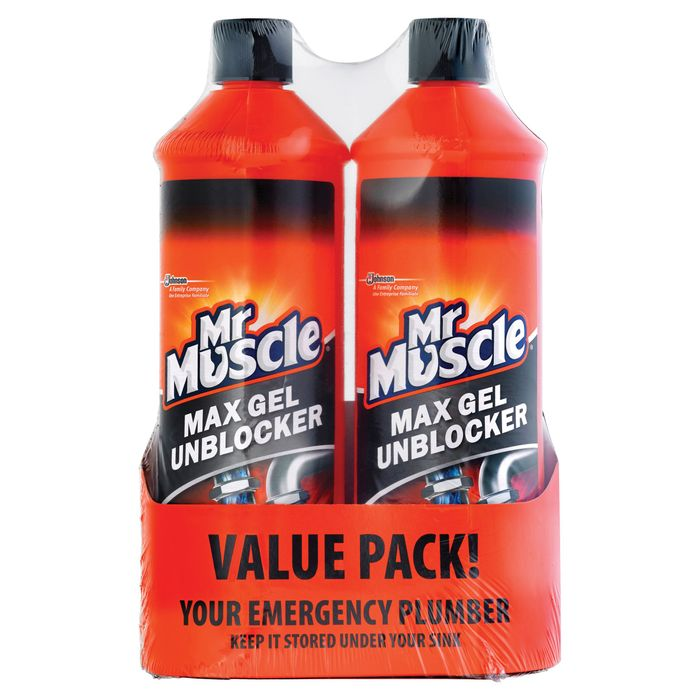 Mr Muscle Max Gel Plughole Unblocker *2 X 1000Ml