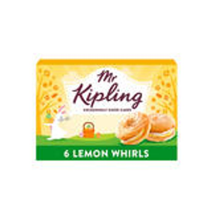 Mr Kipling Lemon or Chocolate Whirls X6