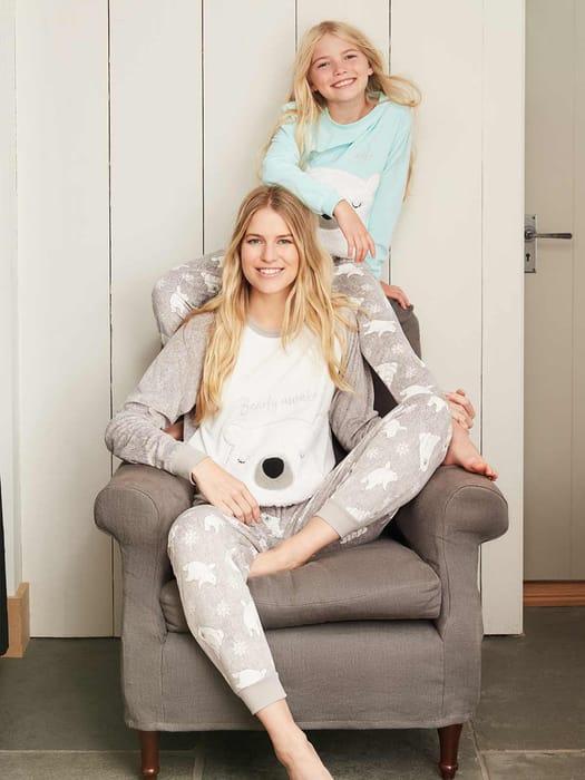 Best Price! Girls Aqua Polar Bear Twosie Pyjama Set