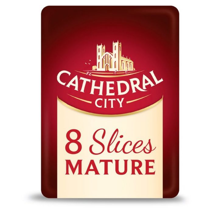 Cathedral City 8 Slices Mature / Lighter Cheese - HALF PRICE!
