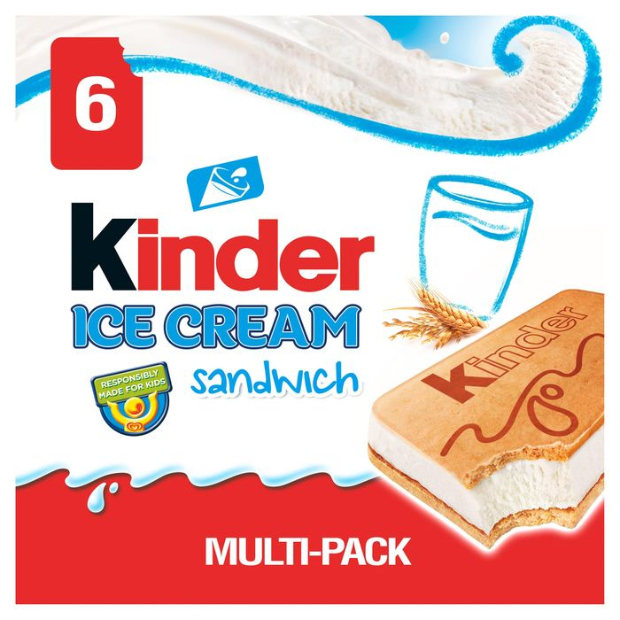 Kinder Sandwich Ice Cream Sandwich 6 X 60ml