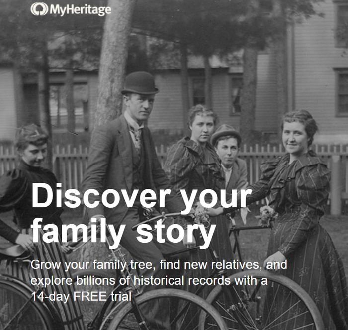 MyHeritage 14 Day Free Trial
