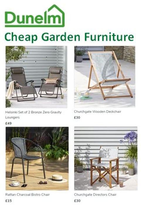 CHEAP! Garden Furniture at DUNELM