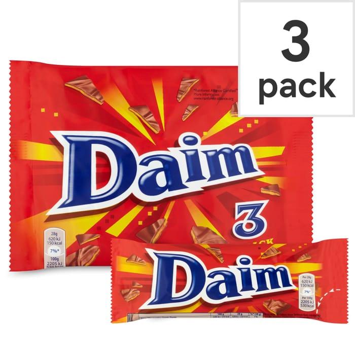 Daim Bar 3 Pack £1