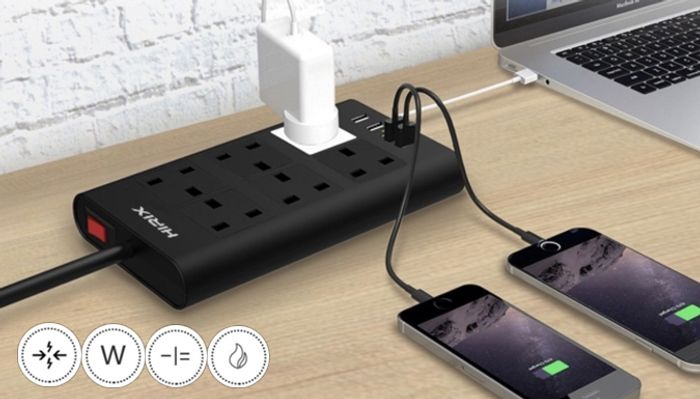 Pocket Socket Charger with 4 USB Ports
