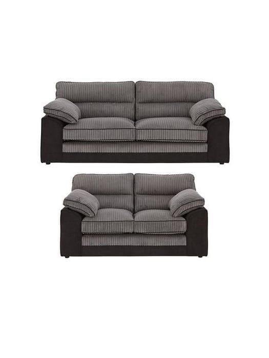 *SAVE £986* Delta 3 Seater + 2 Seater Fabric Sofa Set