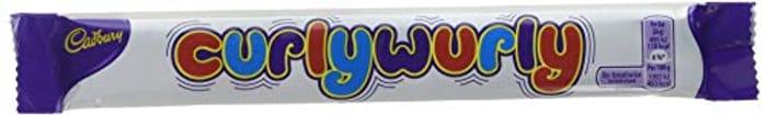 Cadbury Curly Wurly Chocolate Bar, 26g (Pack of 48)