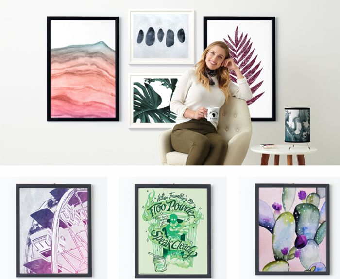Customise Your Home! 50% Off Posters + 25% Off Cushions & Fleece Blankets