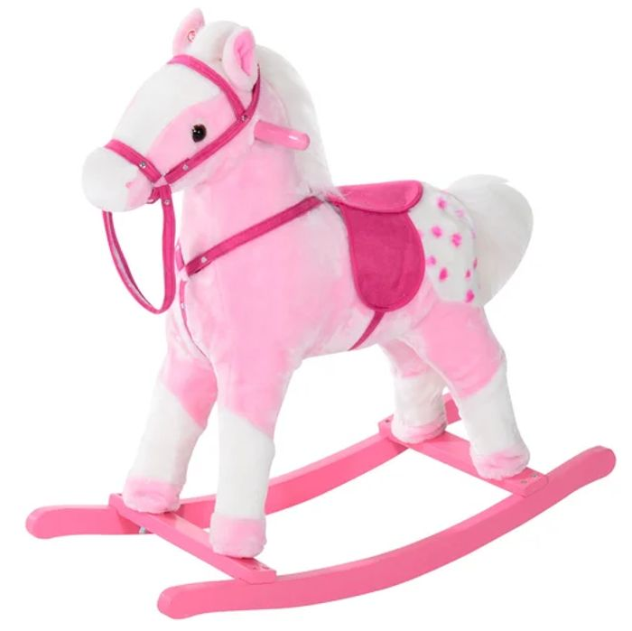 Children Plush Rocking Horse with Sound - Just £30.35 with Code + Free Delivery