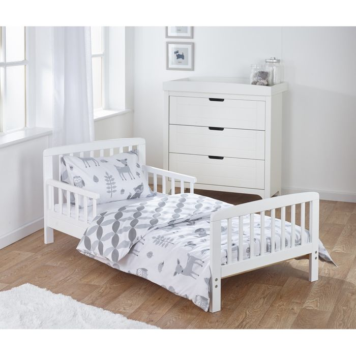 Pre order KinderValley 7Piece Toddler Bed, Mattress and Bedding (Woodland Tales)