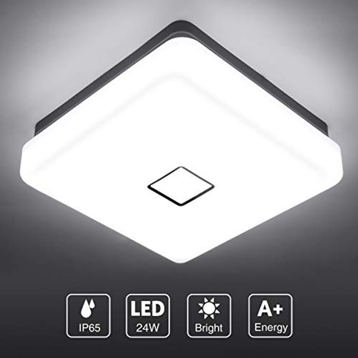 Waterproof Super Bright Flush Square Bathroom Lights