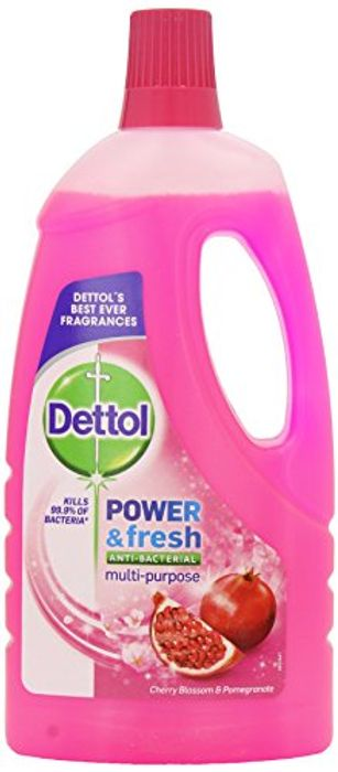 Dettol Power and Fresh Floor Cleaner, Cherry Blossom and Pomegranate, 1 Litre