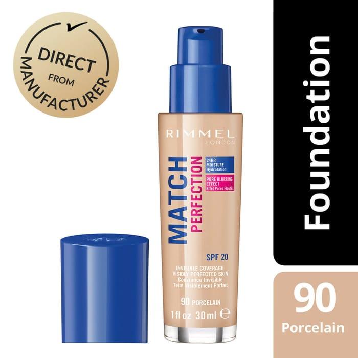 Rimmel Match Perfection Foundation SPF 20 - £6.29 Delivered