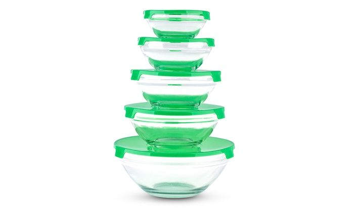 Sets of 5 Glass Food Storage Containers for £6.98 Delivered