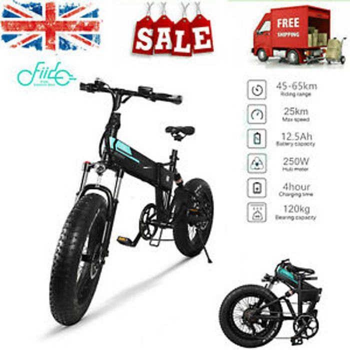 20 Inch Big Tire Folding Electric Bicycle Adjustable Seat Height 250w 36v C7j0 815 99 At Ebay Latestdeals Co Uk