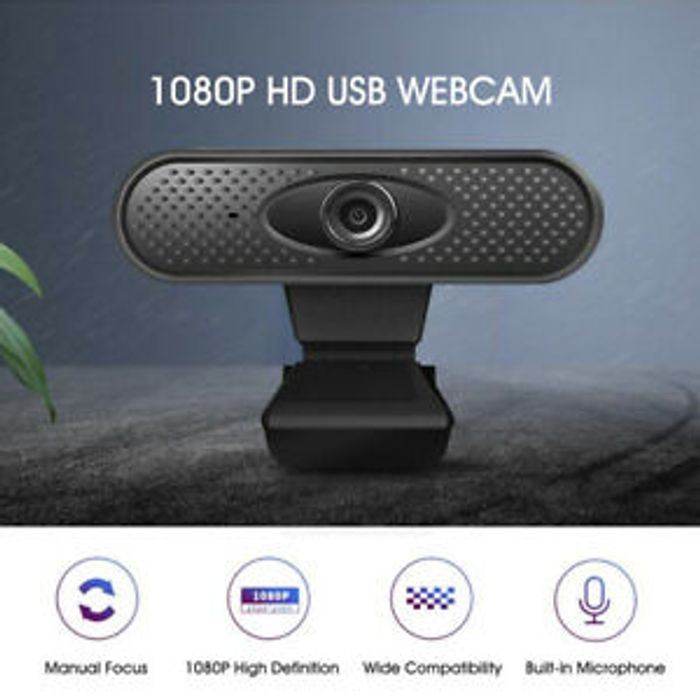 1080P Full HD Web Camera USB Webcam with Microphone for Online Remote Teaching