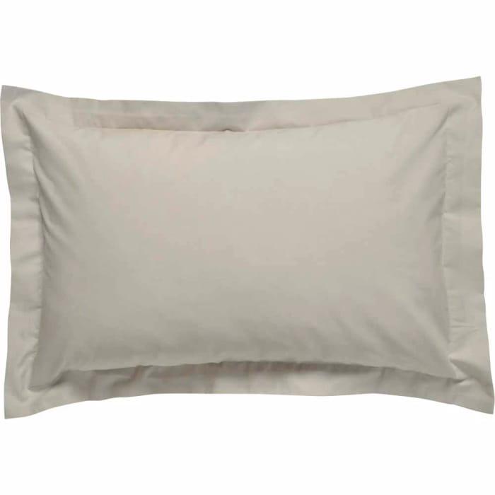 Wilko Oxford Pillowcase Silver