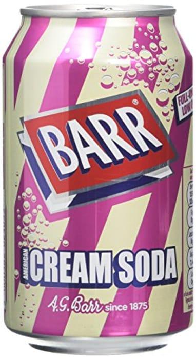 Barrs Cream Soda 330 Ml (Pack of 24)