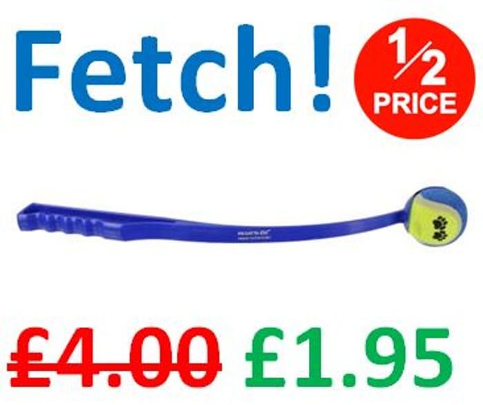 CHEAP! HALF PRICE! Fetch Lightweight Dog Ball Launcher / Thrower