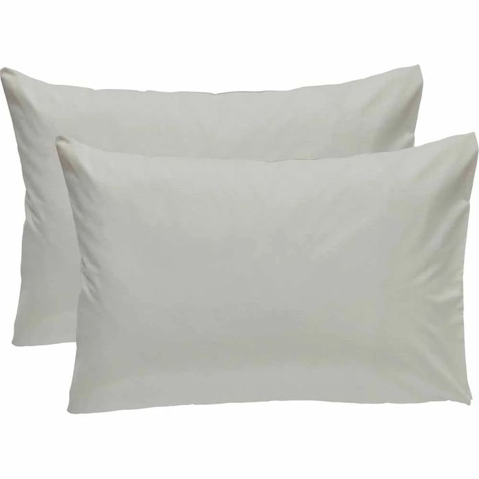 Wilko Easy Care Cream Housewife Pillowcases 2 Pack