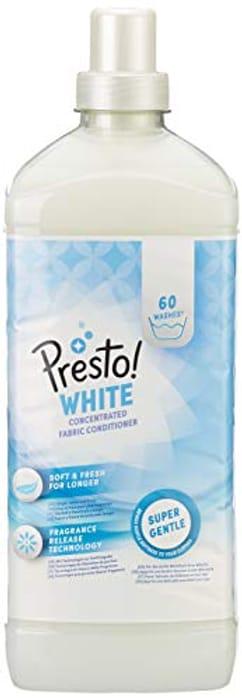 Amazon Brand - Presto! Fabric Softener White, 360 Washes (6 Packs , 60 Each)