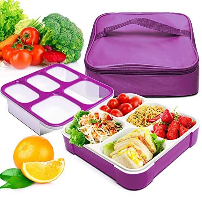 Bento Box, Fun Life Lunch Box, Eco-Friendly, BPA Free