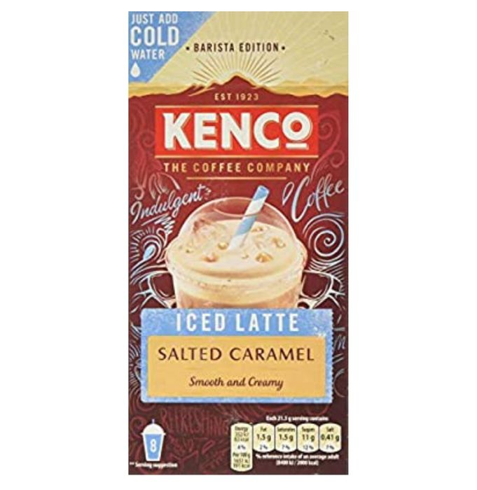 Kenco Iced Latte Salted Caramel Instant Coffee(5 X 8 Sachets, Total 40 Servings)
