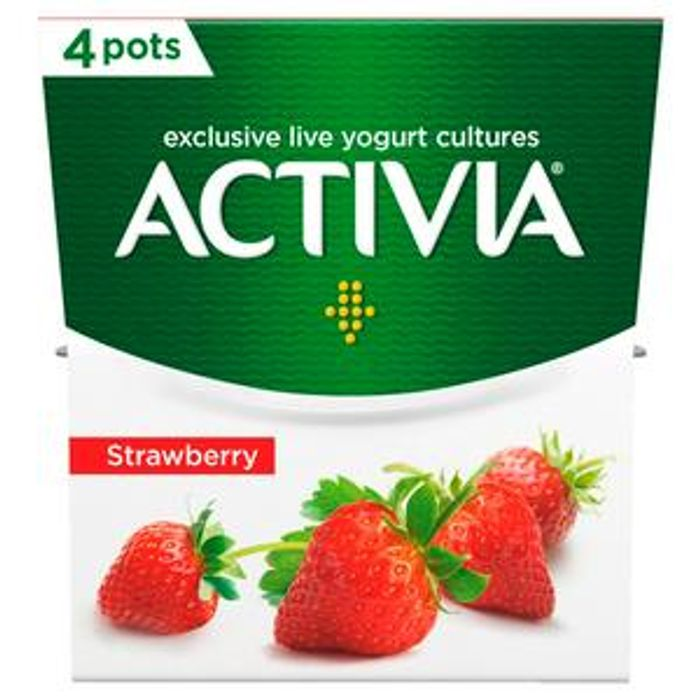 Activia Strawberry Yogurt 4x120g - HALF PRICE