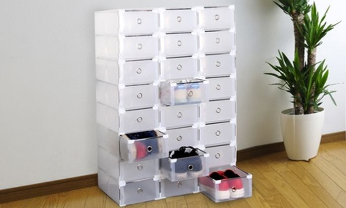 8 or 16 Foldable Shoe Organisers