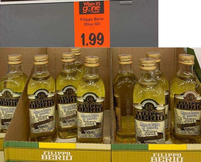 Filippo Berio Mild & Light Olive Oil 500Ml